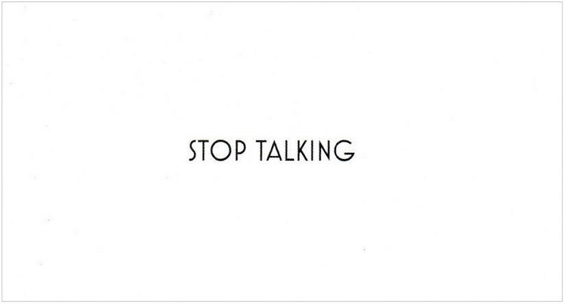 Stop Talking Courtesy Cards